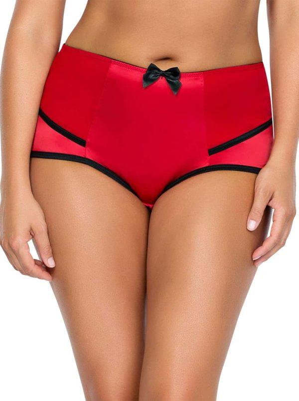 Charlotte HighwaistBrief6917 RedBlack Front 600x805 - Charlotte Highwaist Brief - Red&Black - 6917