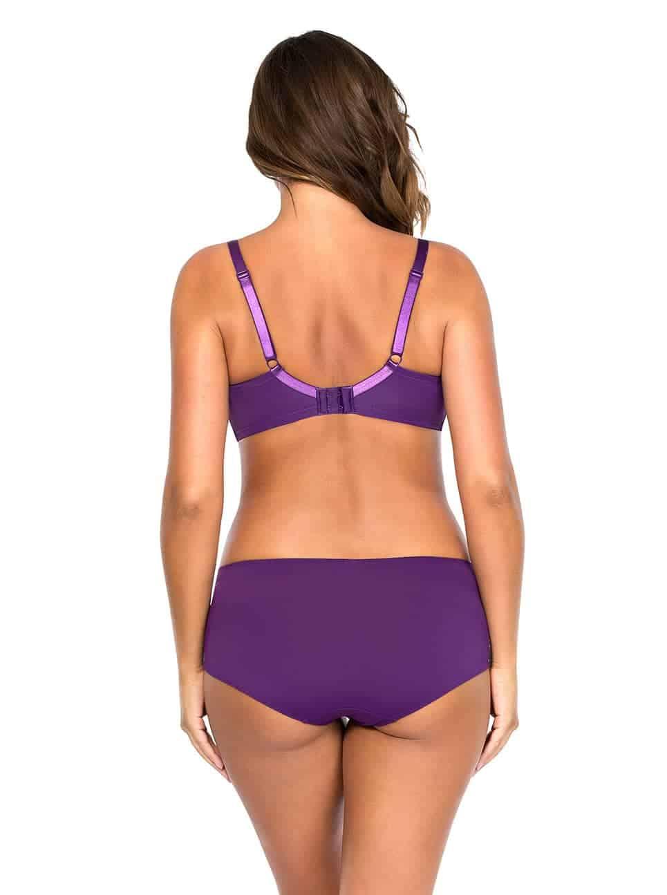 Carole WireBra3102 Hipster3105 Imperial Purple Back 2 - Carole Wire Bra - Imperial Purple - 3102