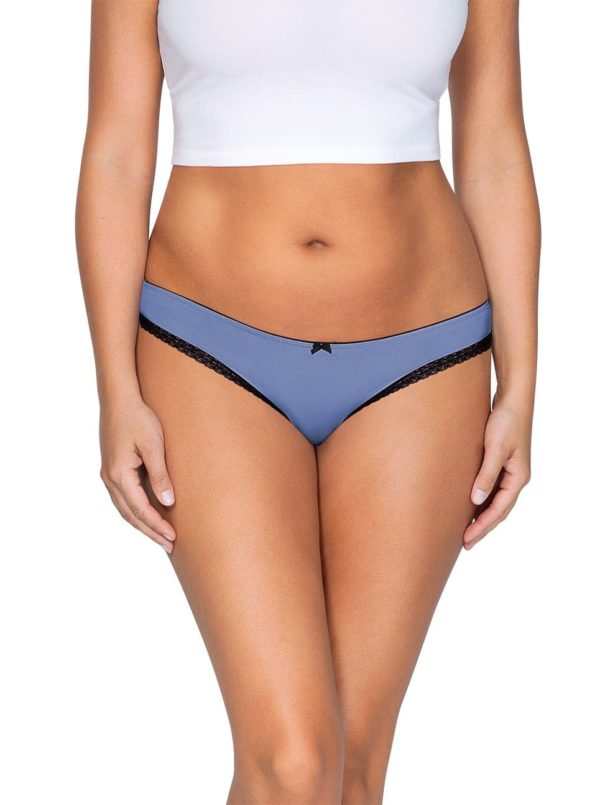 ParfaitPantyThong PP401 C SilverBlueFront main 600x805 - So Lovely Thong Silver Blue PP401