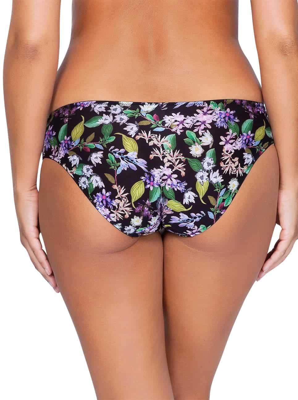 Ava P5373 Bikini Back - Ava Bikini - Black Floral - P5373