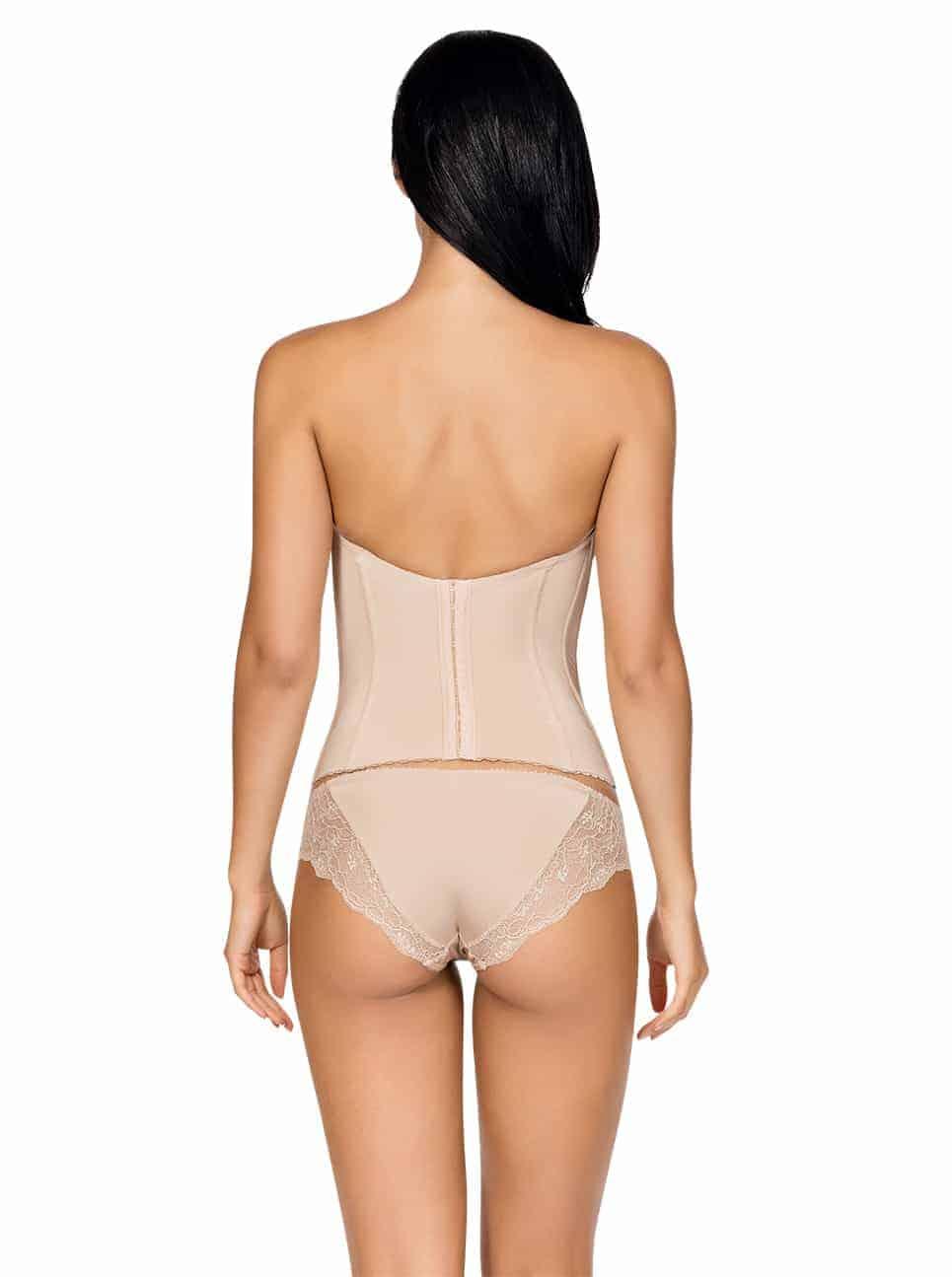 Elissa Low BackBustierP5017 BikiniP5013 EuropeanNude Back - Elissa Low-Back Bustier - Nude - P5017