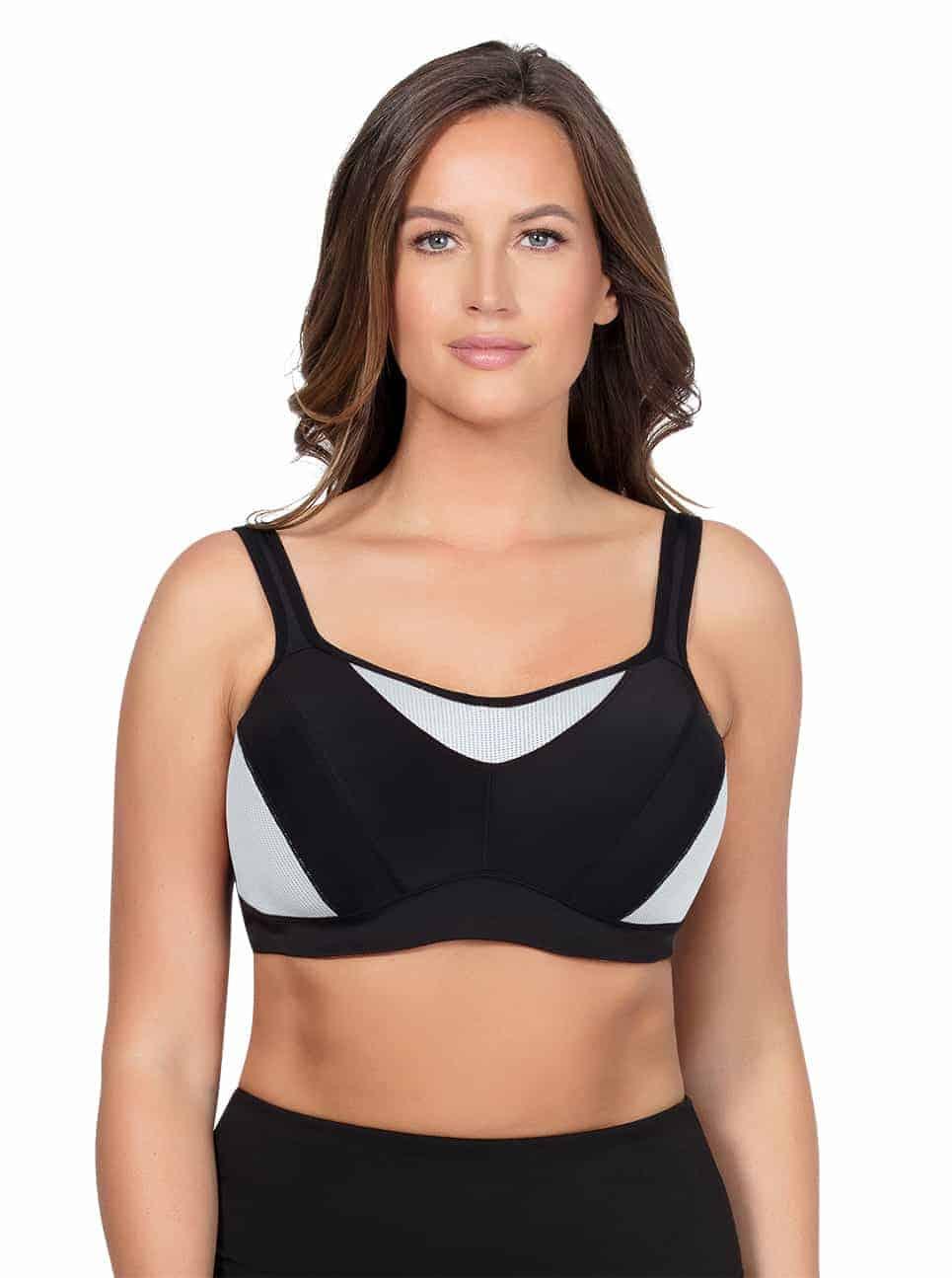 ... ParfaitActive SportsBraP5541 Black Front - Parfait Active Sports Bra -  Black - P5541