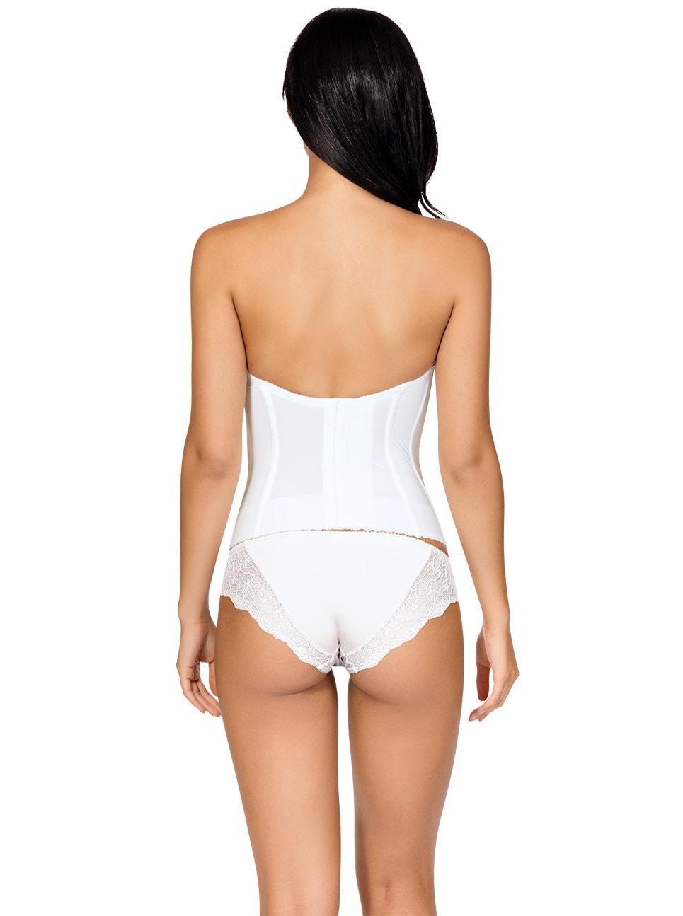 PARFAIT Elissa Low BackBustierP5017 BikiniP5013 PearlWhite Back copy - Elissa Low-Back Bustier - Pearl White - P5017