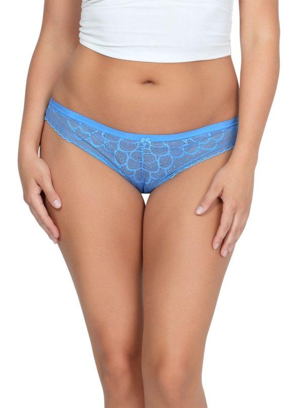 ParfaitPanty SoGlam ThongPP402 MediterraneanBlue FRONT 600x805 - Parfait Panty So Glam Thong - Mediterranean Blue - PP402