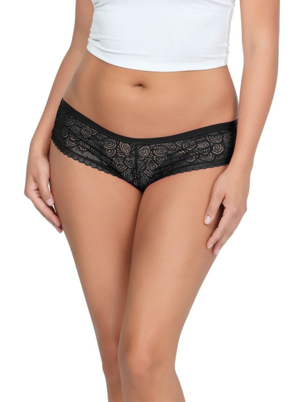 ParfaitPanty SoGlam HipsterPP502 Black front1 600x805 - Parfait Panty So Glam Hipster - Black - PP502