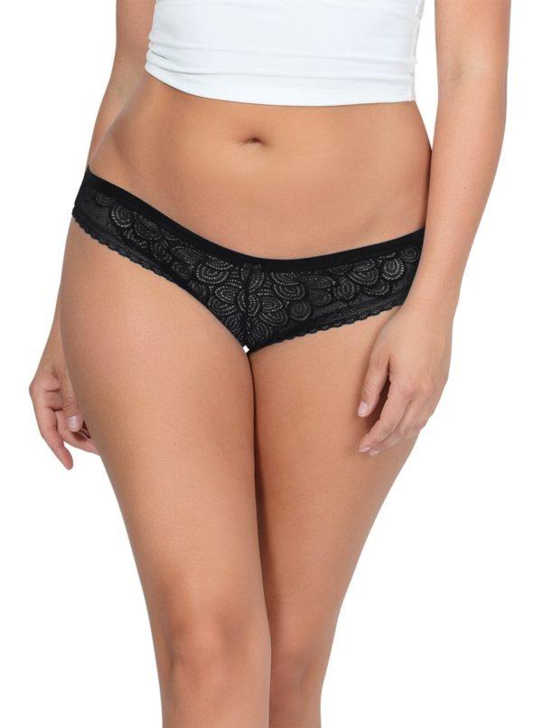 ParfaitPanty SoGlam BikiniPP302 Black front 600x805 - Parfait Panty So Glam Bikini - Black - PP302