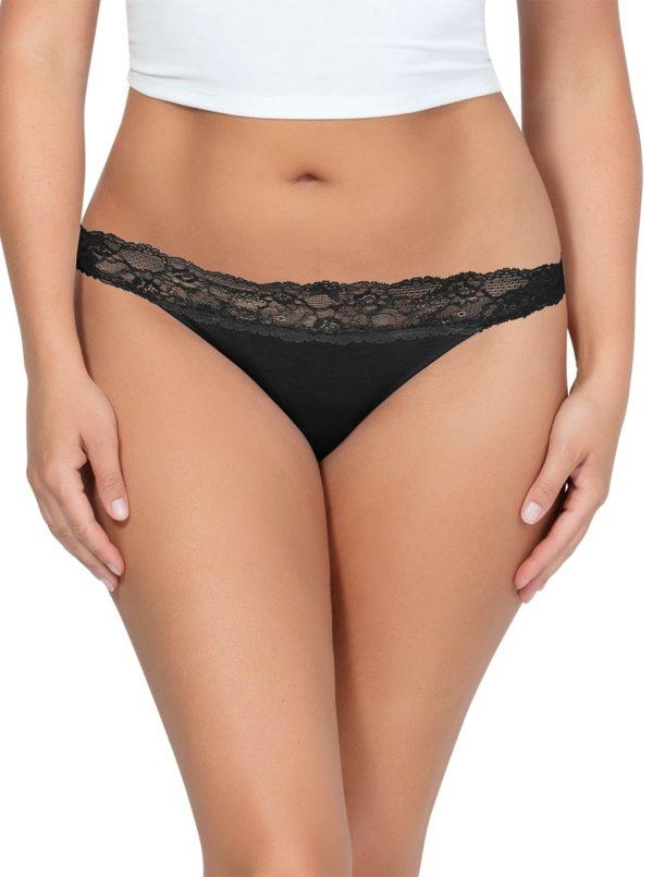 PARFAIT ParfaitPanty SoEssential ThongPP403 Black Front 600x805 - Parfait Panty So Essential Thong - Black - PP403