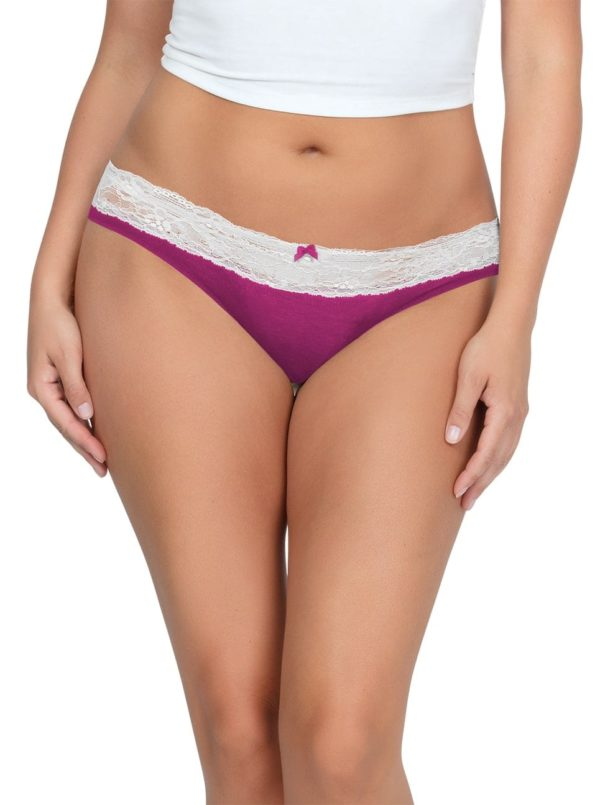 PARFAIT ParfaitPanty SoEssential BikiniPP303 WildPinkIvory Front 600x805 - Parfait Panty So Essential Bikini- Wild Pink - PP303