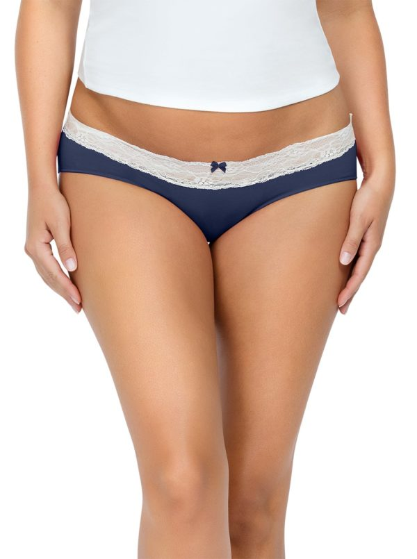 PARFAIT ParfaitPanty SoEssential HipsterPP503 NavyBlue Front close 600x805 - Parfait Panty So Essential Hipster - Navy- PP503
