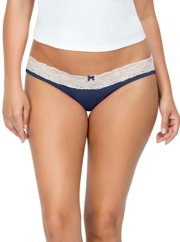 PARFAIT ParfaitPanty SoEssential BikiniPP303 NavyBlue Front close 600x805 - Parfait Panty So Essential Bikini- Navy - PP303